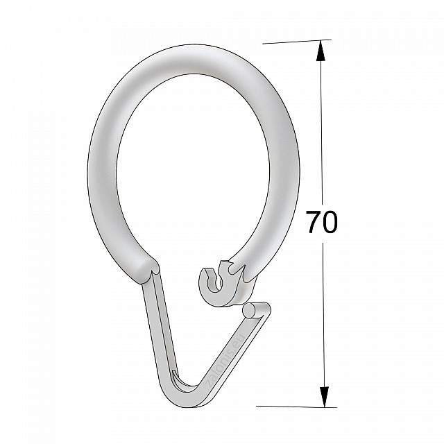 SHOWER CURTAIN RING PLASTIC WHITE